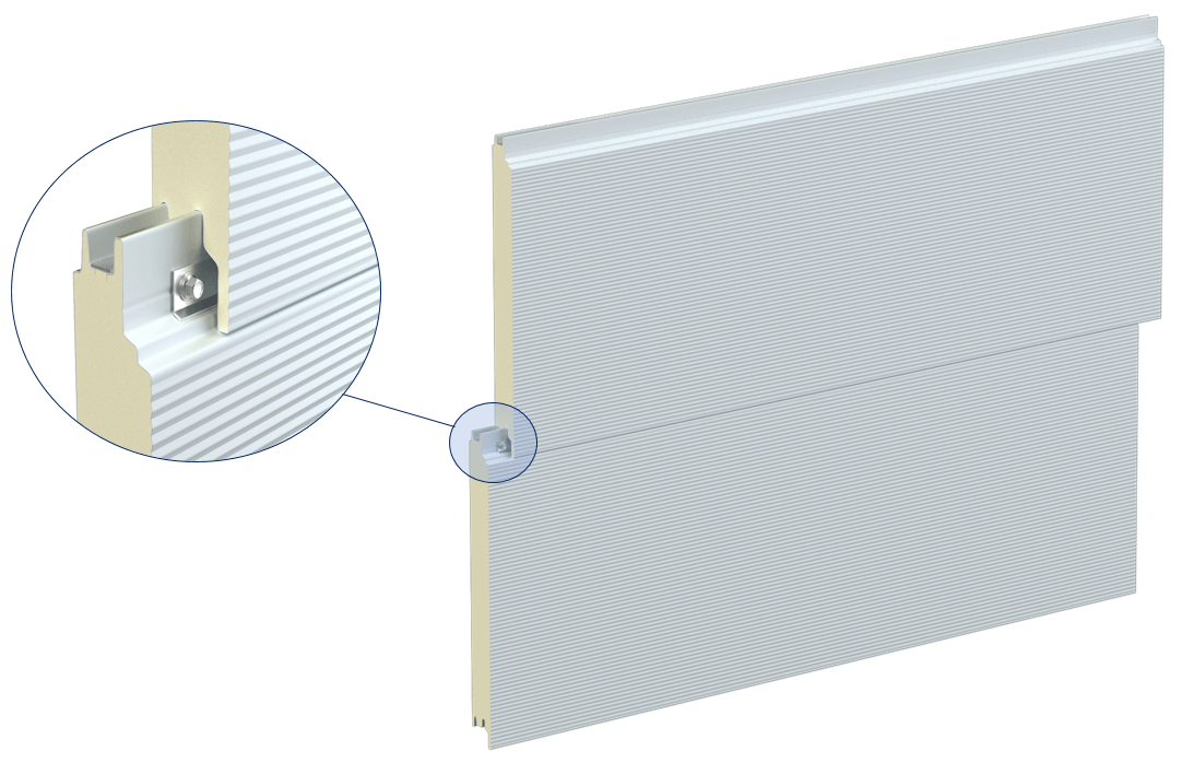 Stěnové sendvičové panely S PIR - přiznaný spoj PUR panely - skřitý spoj